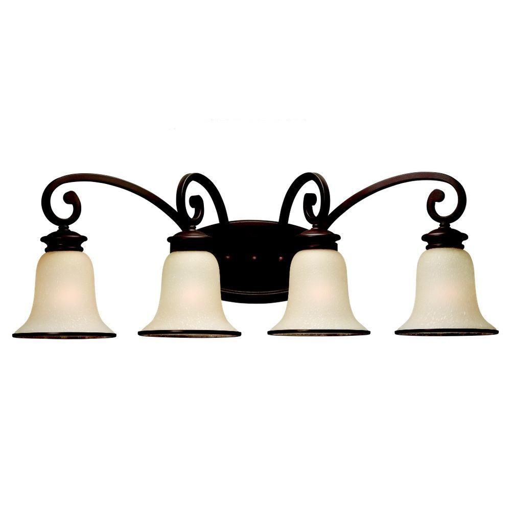 Acadia 4-Light Misted Bronze Vanity Light
