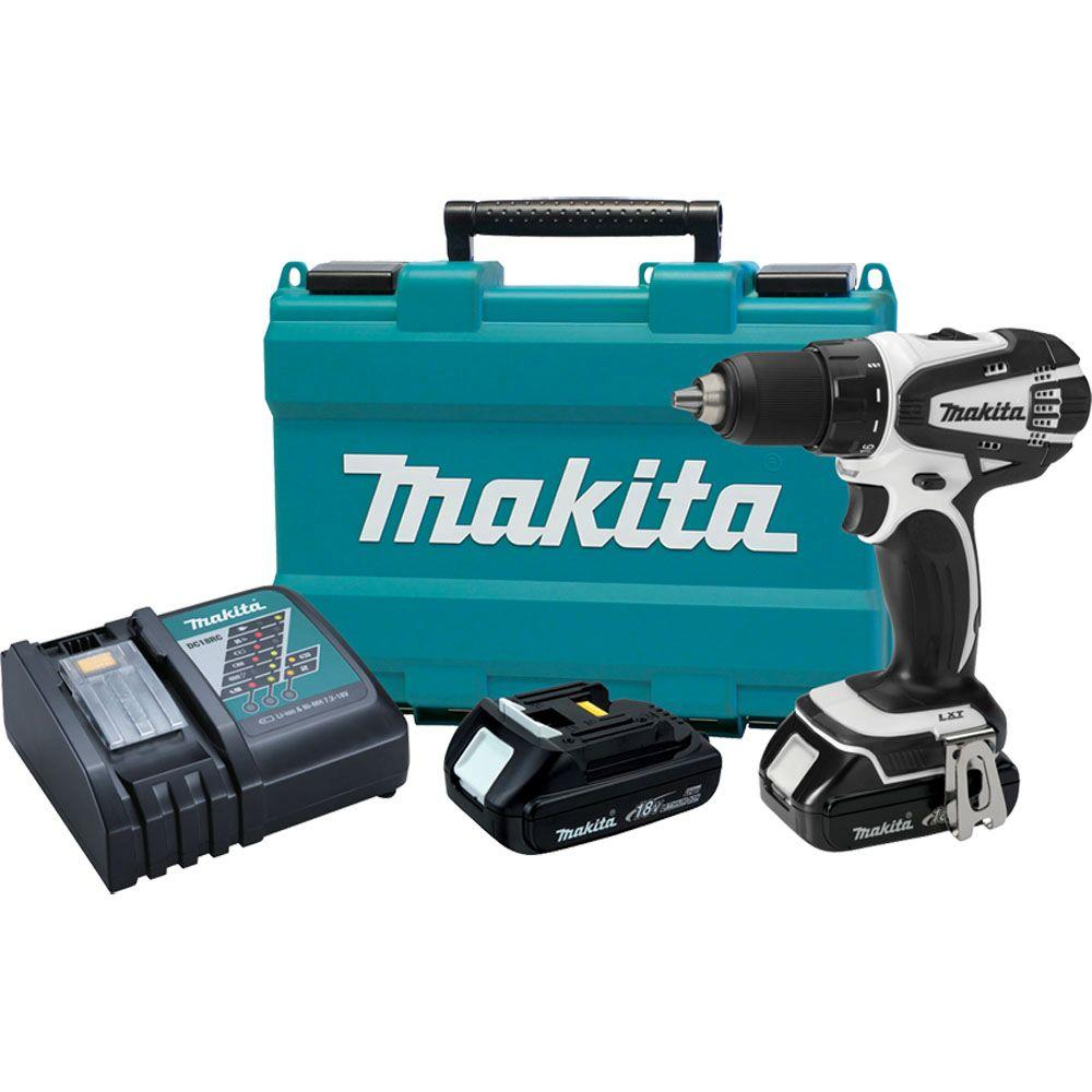 Makita 18-Volt Lithium-Ion 1/2 in. Cordless Compact Drill Kit