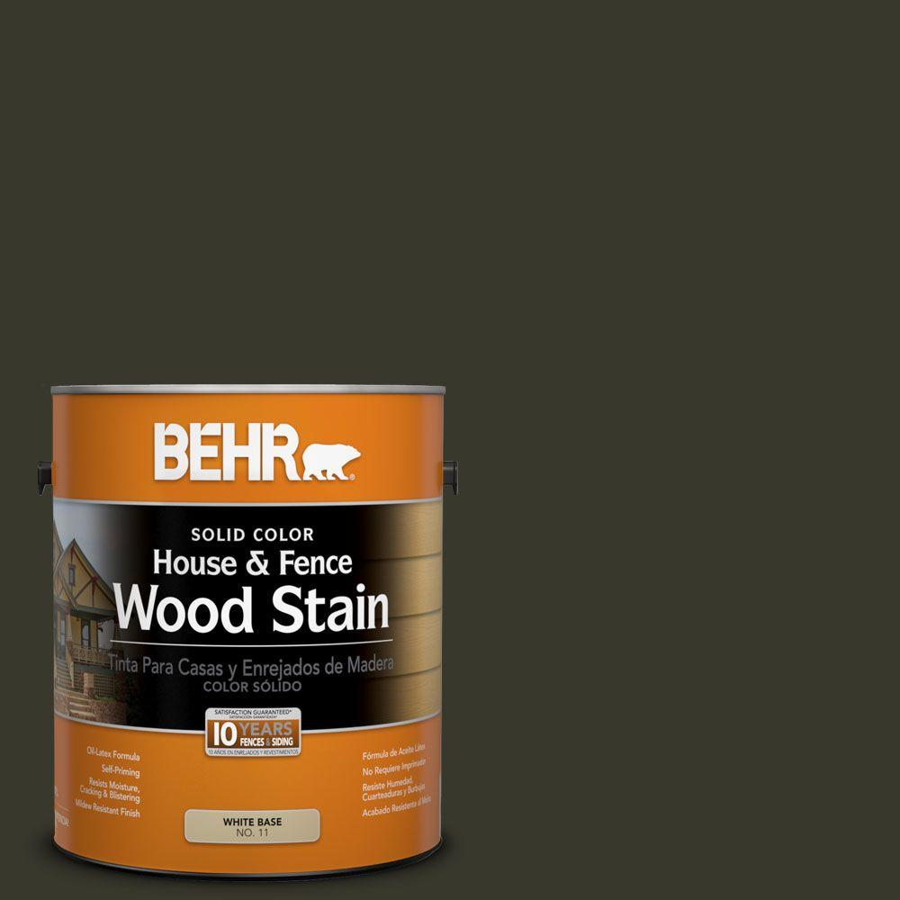 BEHR 1-gal. #SC-108 Forest Solid Color House and Fence Wood Stain