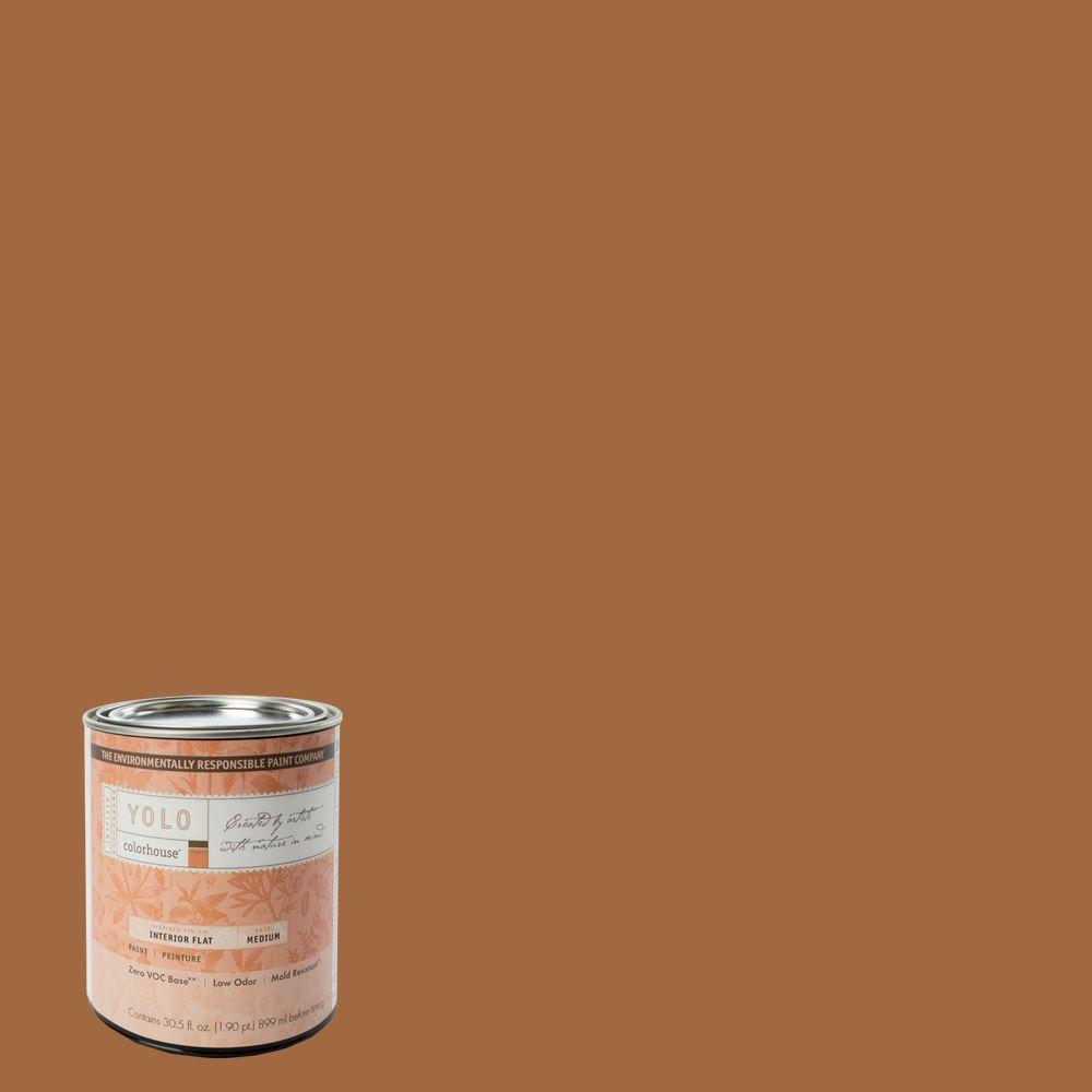 YOLO Colorhouse 1-Qt. Clay .03 Flat Interior Paint-DISCONTINUED