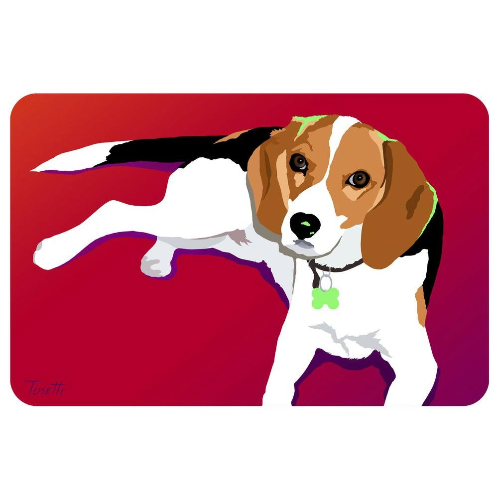 Bungalow Flooring Printed Beagle 10 18 in. x 27 in. Mat