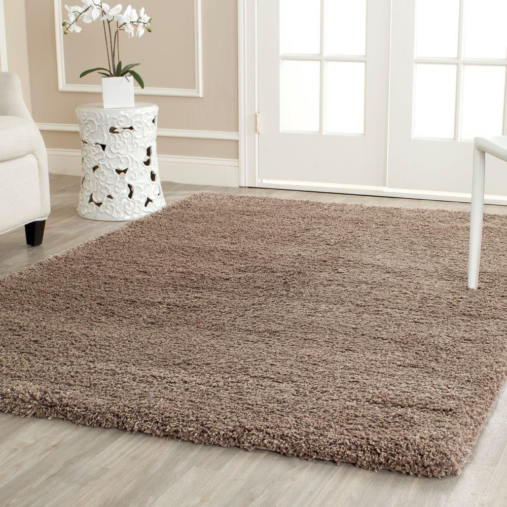 Safavieh California Shag Taupe 5 ft. 3 in. x 7 ft. 6 in. Area Rug