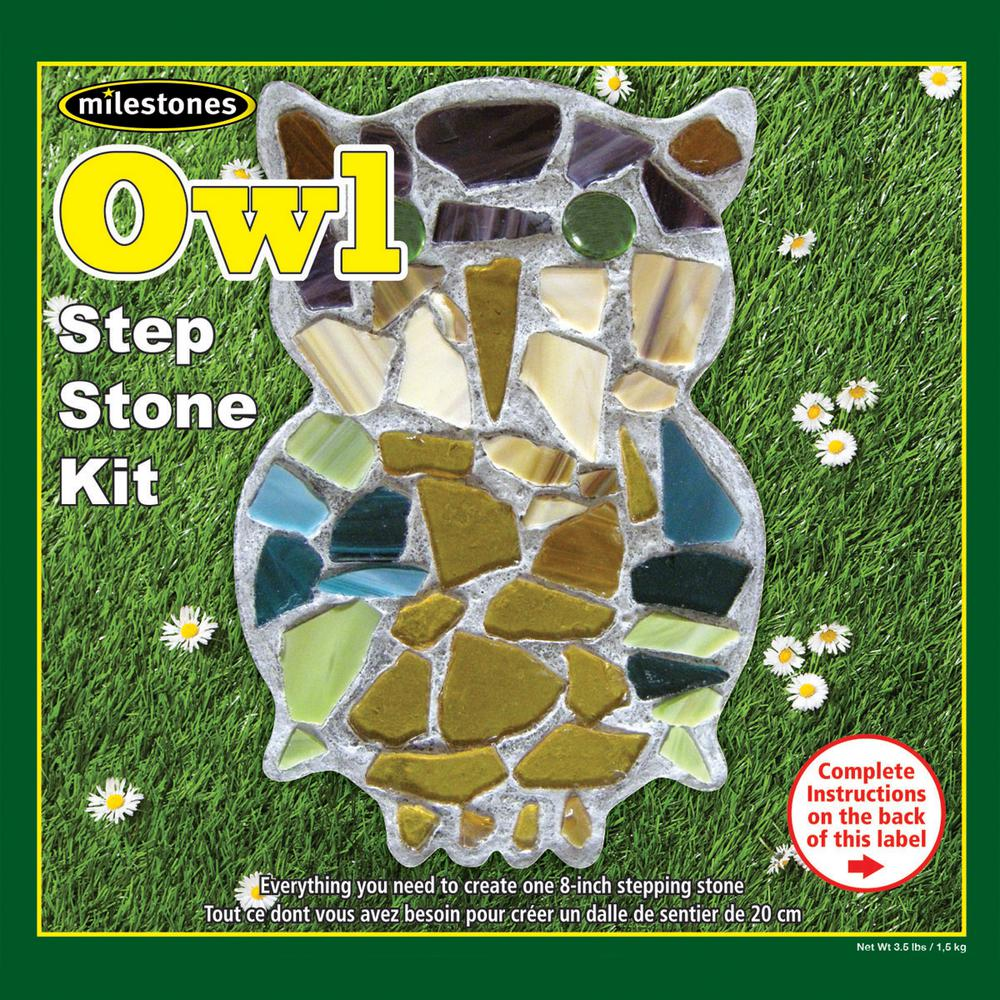 Midwest Products Owl Mosaic Step Stone Kit-27925 - The Home Depot