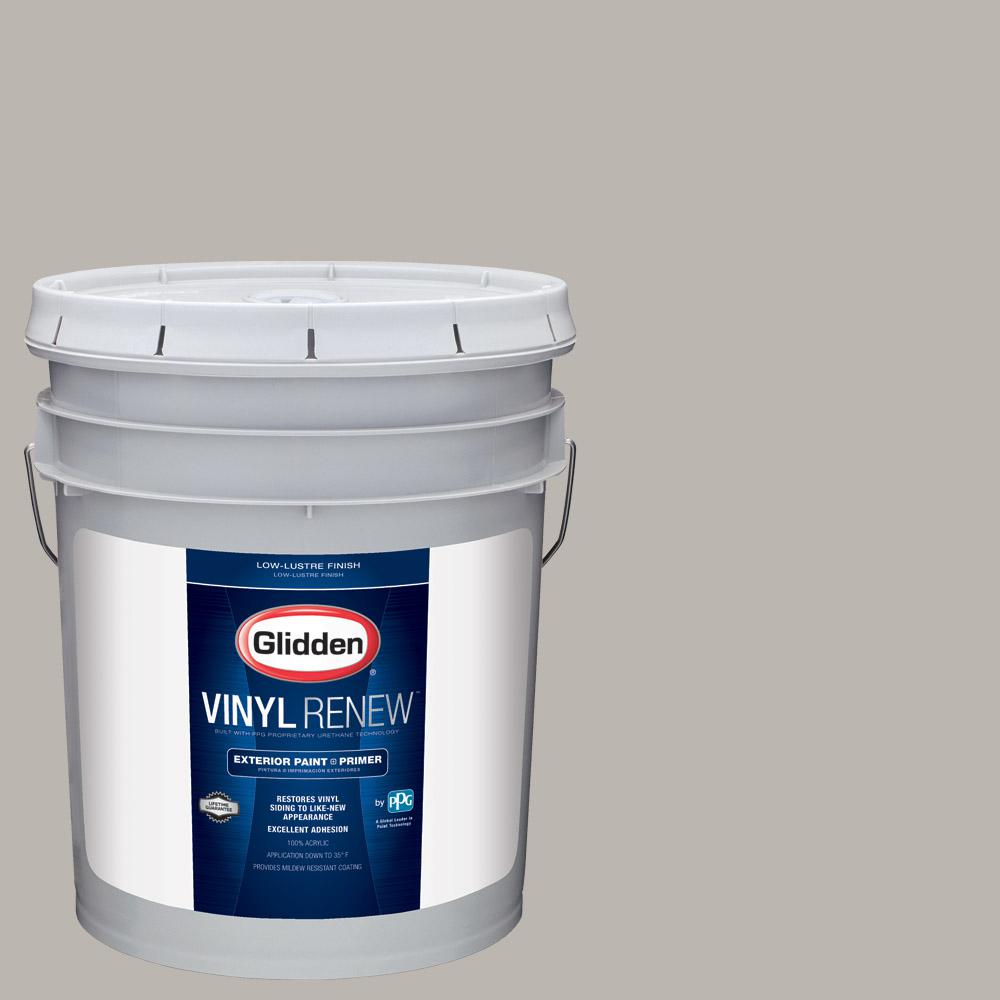 5 gal. #HDGCN50 Candlestick Silver Low-Lustre Exterior Paint with Primer