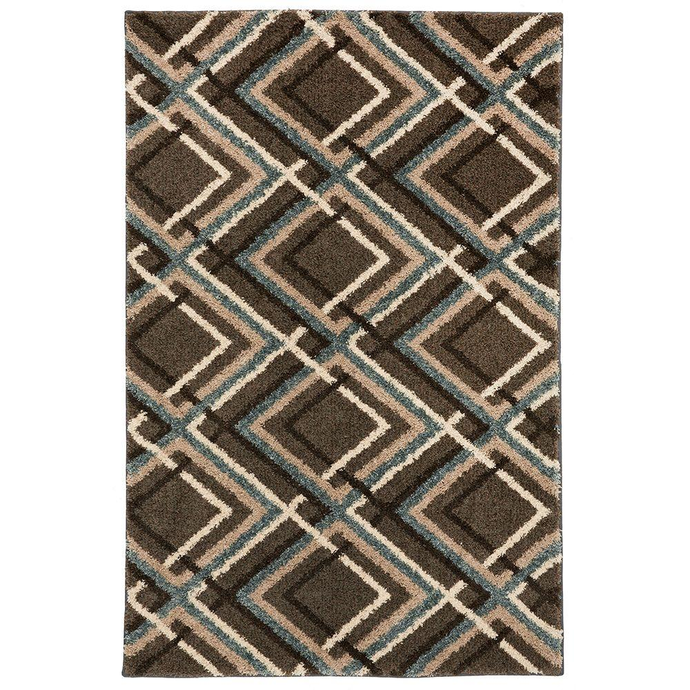 Browning Avenue Grey Black 5 ft. x 8 ft. Area Rug