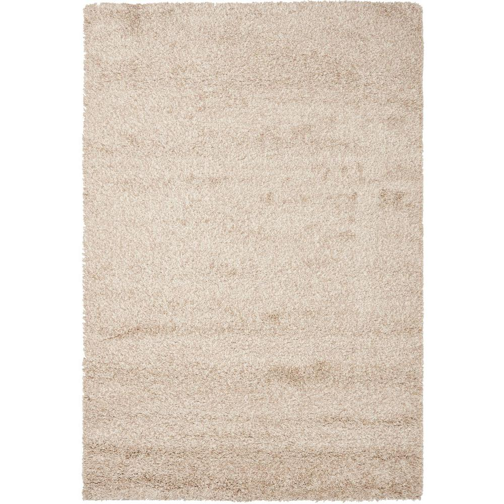 California Shag Beige 6 ft. 7 in. x 9 ft. 6 in. Area Rug