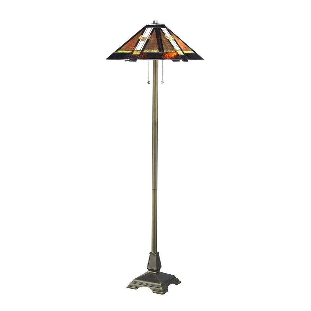 Serena D´italia Tiffany Mission 61 in. Bronze Floor Lamp