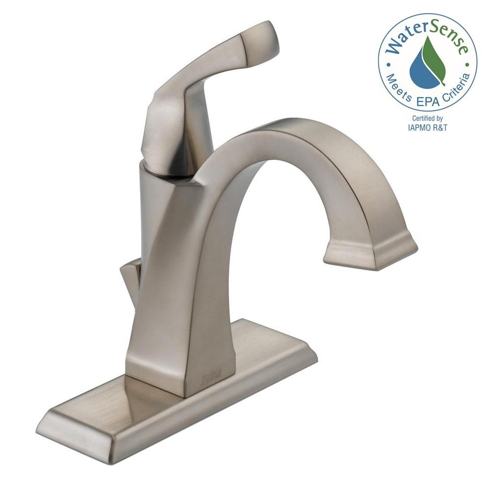 Dryden Single Hole Single-Handle Bathroom Faucet with Metal Drain Assembly in