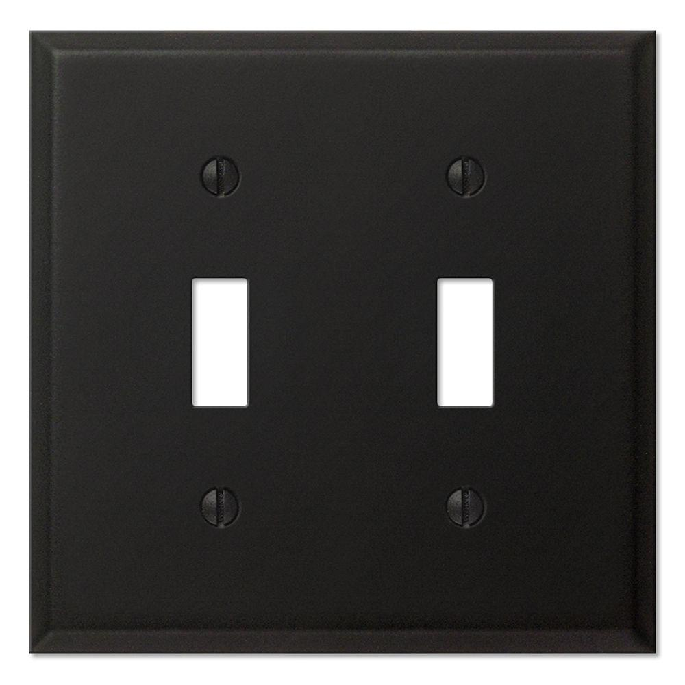 Creative Accents 2 Gang Toggle Wall Plate - Black Iron