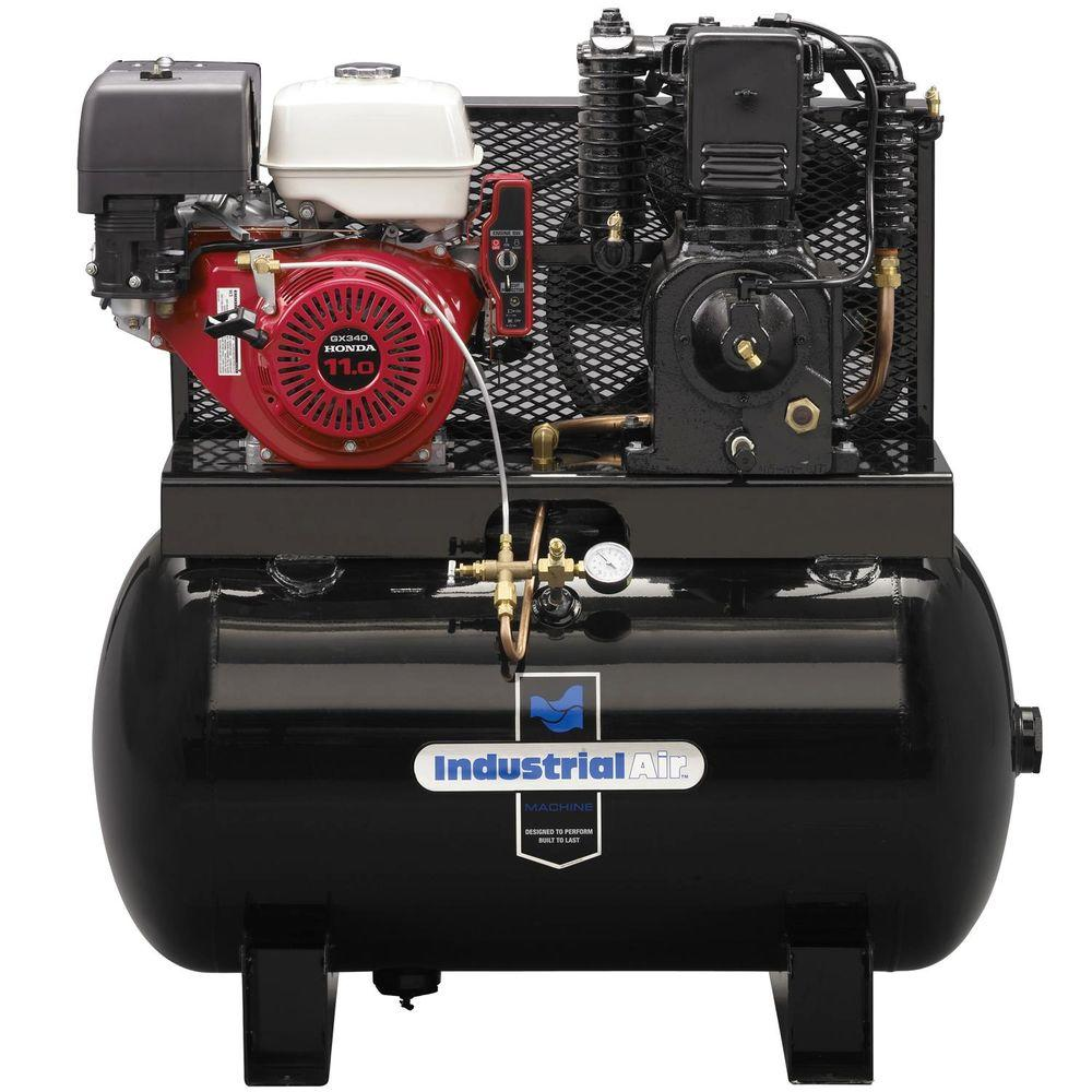 Industrial Air 50 Gal. 2 Stage Truck Mount Air Compressor with 11 HP Electric Start Honda Gas Engine