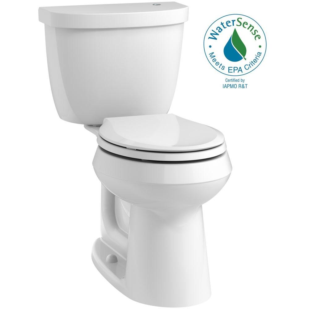 Cimarron Touchless Comfort Height 2-piece 1.28 GPF Round Toilet with AquaPiston