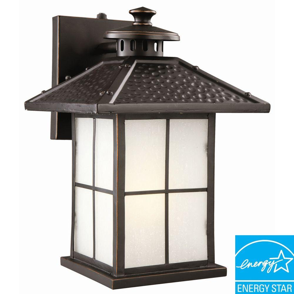 Gladstone Oil Rubbed Bronze Fluorescent Outdoor Downlight