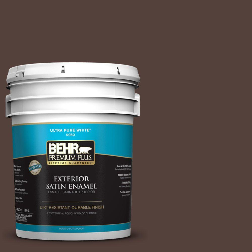 5-gal. #PPF-51 Dark Walnut Satin Enamel Exterior Paint