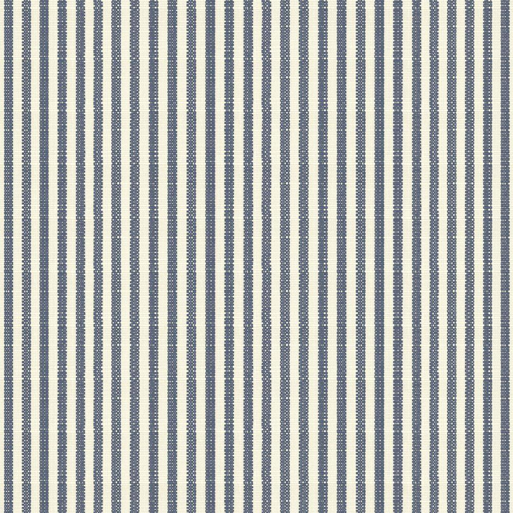 Hampton Bay Sailor Blue Pinstripe Fabric by the Yard