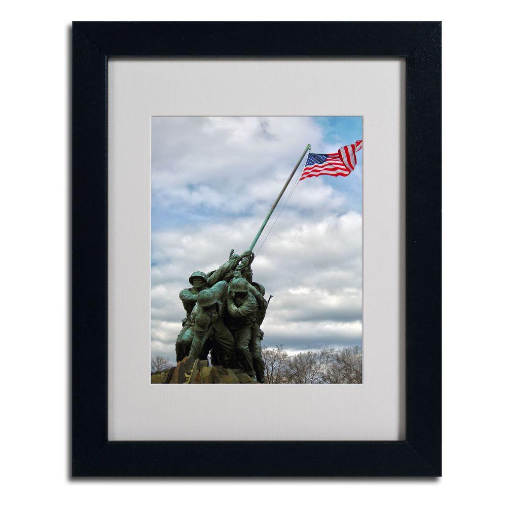 11 in. x 14 in. Marine Corps Memorial 2 Matted Framed