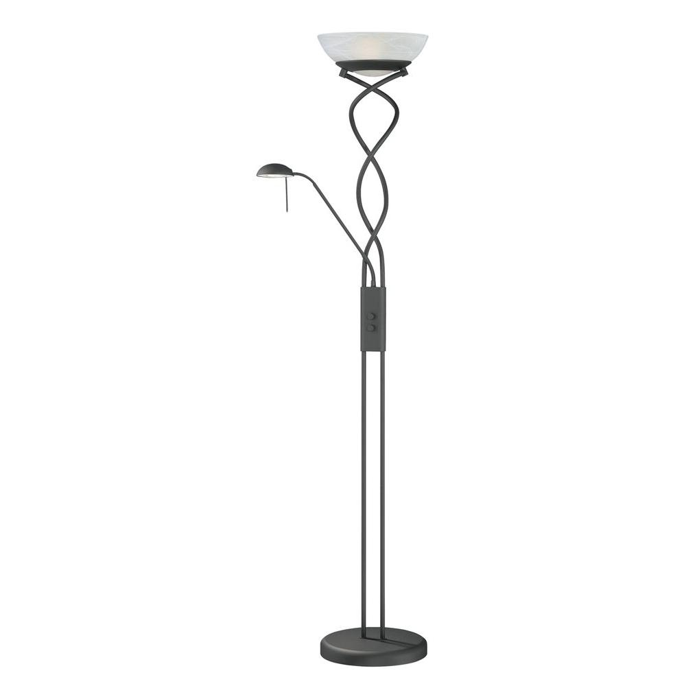 Cassiopeia 72 in. Black Torchiere Lamp