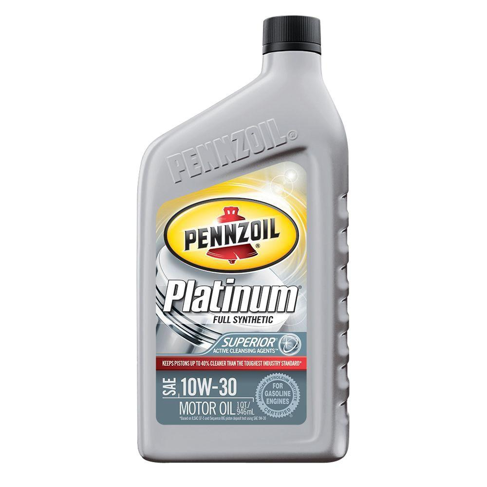pennzoil 10w30 32 oz platinum full synthetic engine