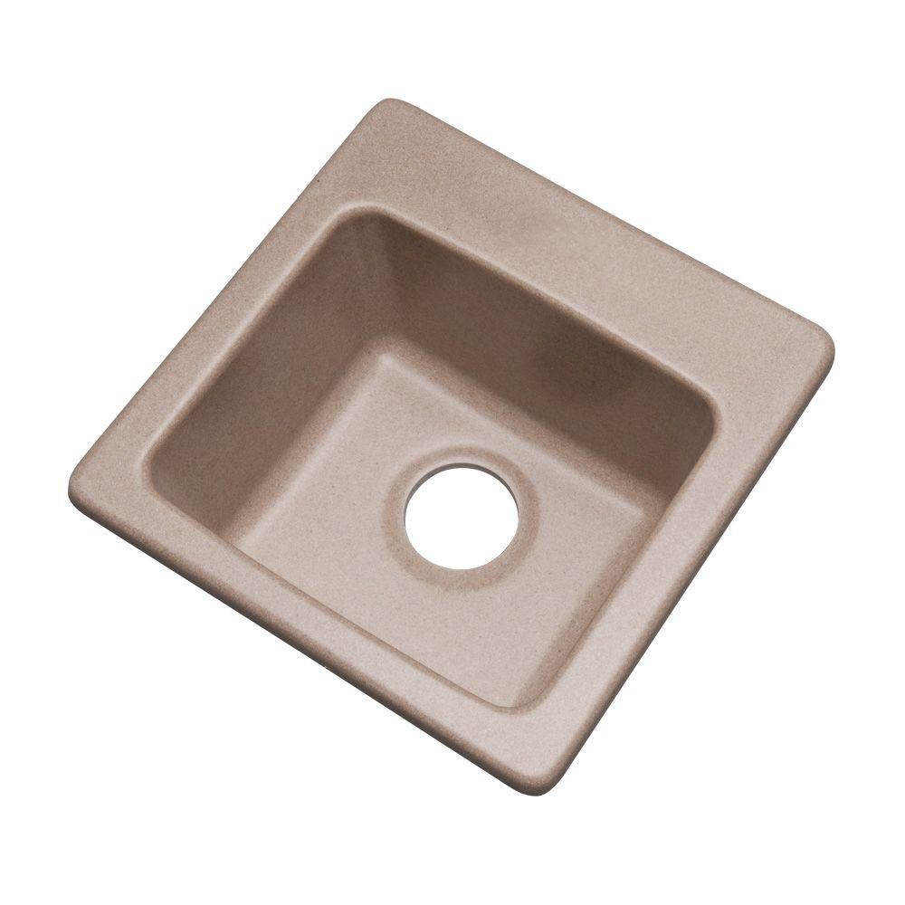 Westminster Drop-In Composite Granite 16 in. 0-Hole Single Basin Bar Sink