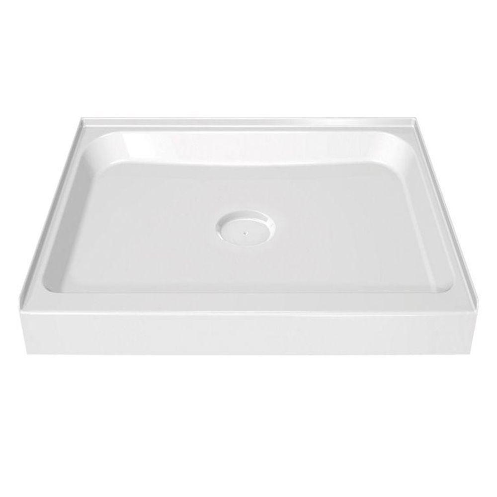 MAAX 42 in. x 42 in. Single Threshold Shower Base in White