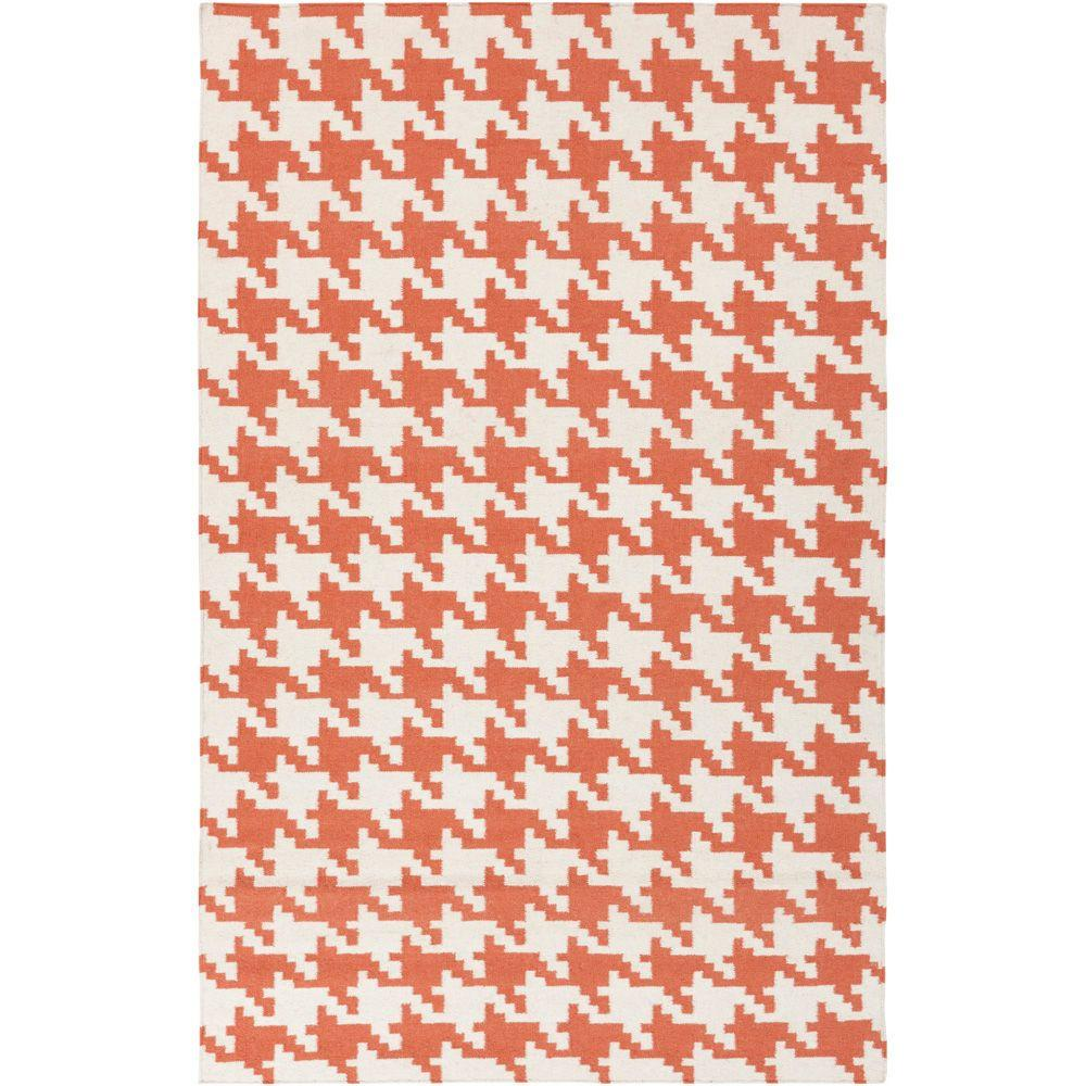Annu Rust 5 ft. x 8 ft. Flatweave Area Rug