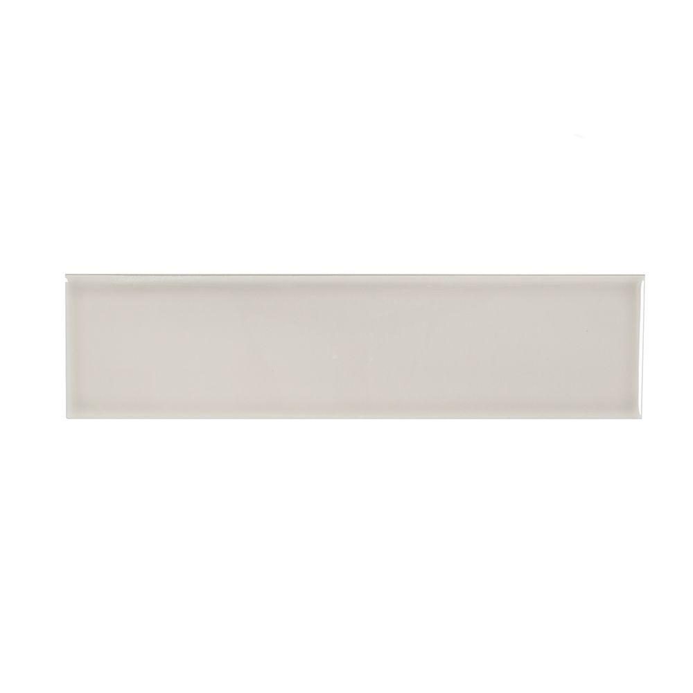 Weather Grey Flat 3 in. x 12 in. Ceramic Wall Tile