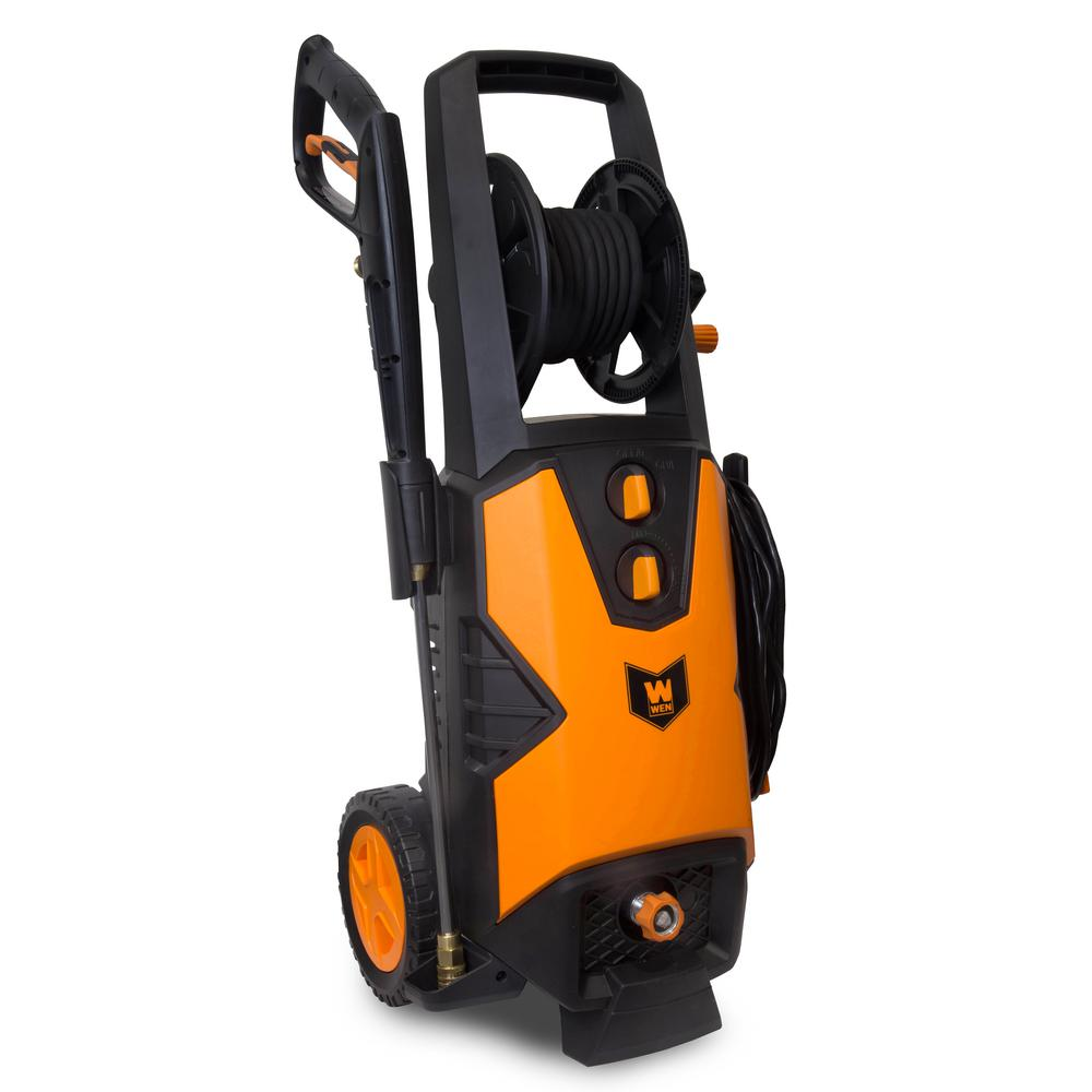WEN 2030 PSI 1.76 GPM 14.5 Amp Electric Pressure Washer with Variable Detergent and Hose Reel