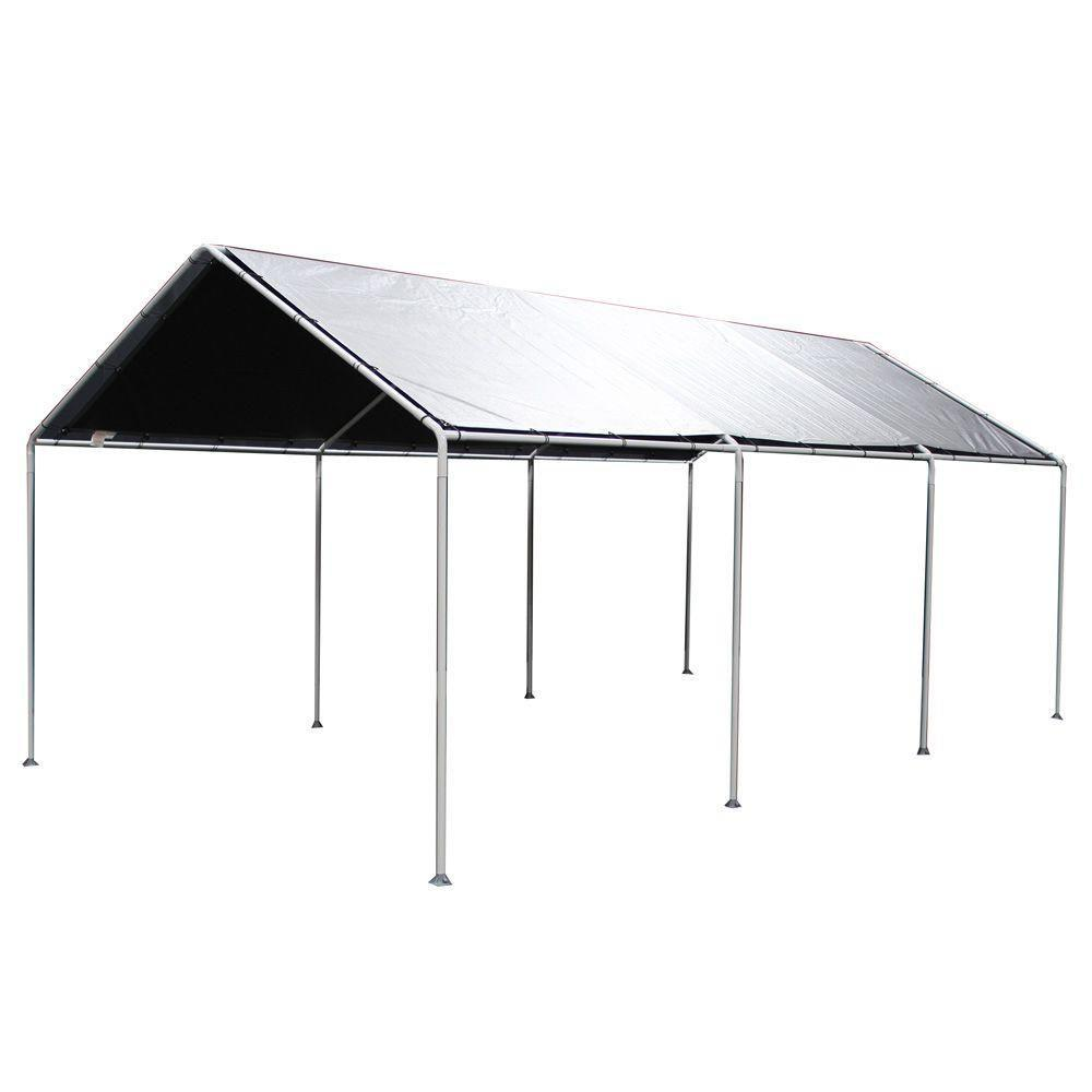 king canopy 10 ft. w x 20 ft. d silver tarp cover-t10203 - the