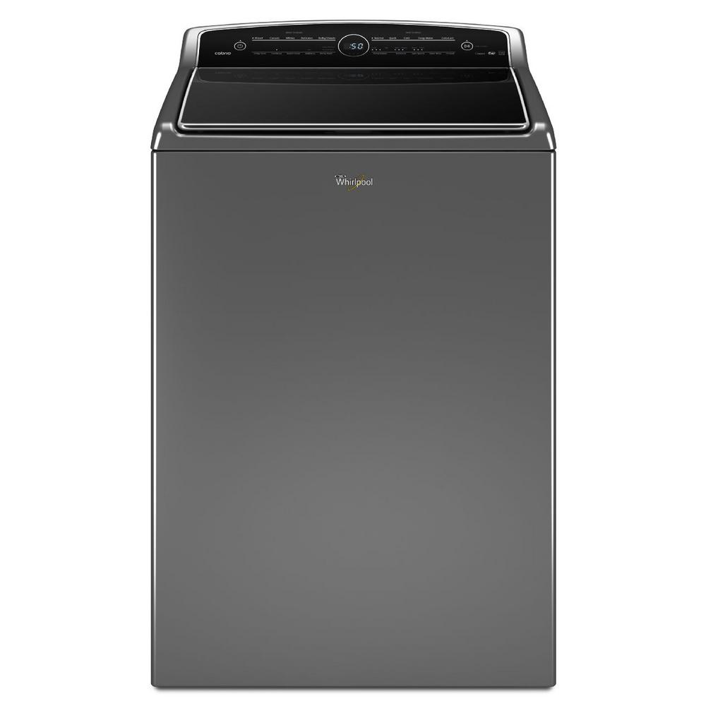 Whirlpool Cabrio 5.3 cu. ft. High-Efficiency Top Load Washer with Steam in Chrome Shadow, ENERGY STAR
