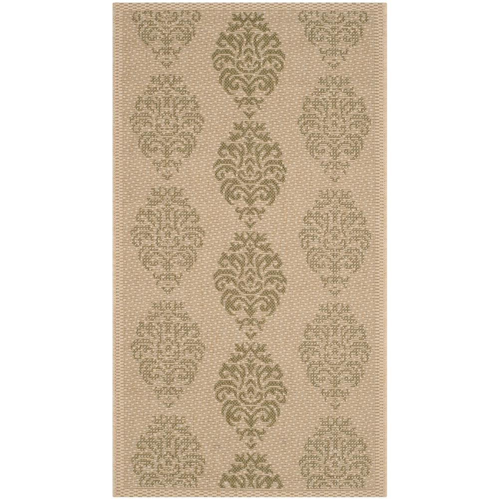 Courtyard Natural/Olive (Natural/Green) 2 ft. 7 in. x 5 ft. Indoor/Outdoor Area Rug Sale $36.20 SKU: 204827109 ID: CY2720-1E01-3 UPC: 683726283430 :