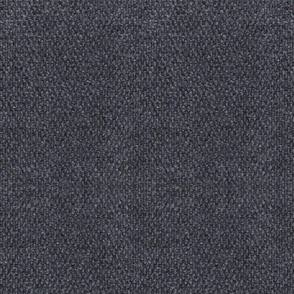 null Hobnail Fleck Charcoal/Mist 18 in. x 18 in. Carpet Tile, 16 Tiles-DISCONTINUED