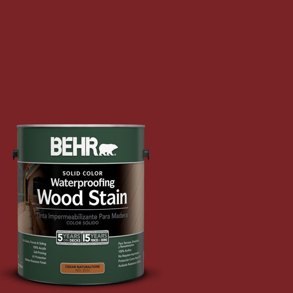 1-gal. #SC-112 Barn Red Solid Color Waterproofing Wood Stain