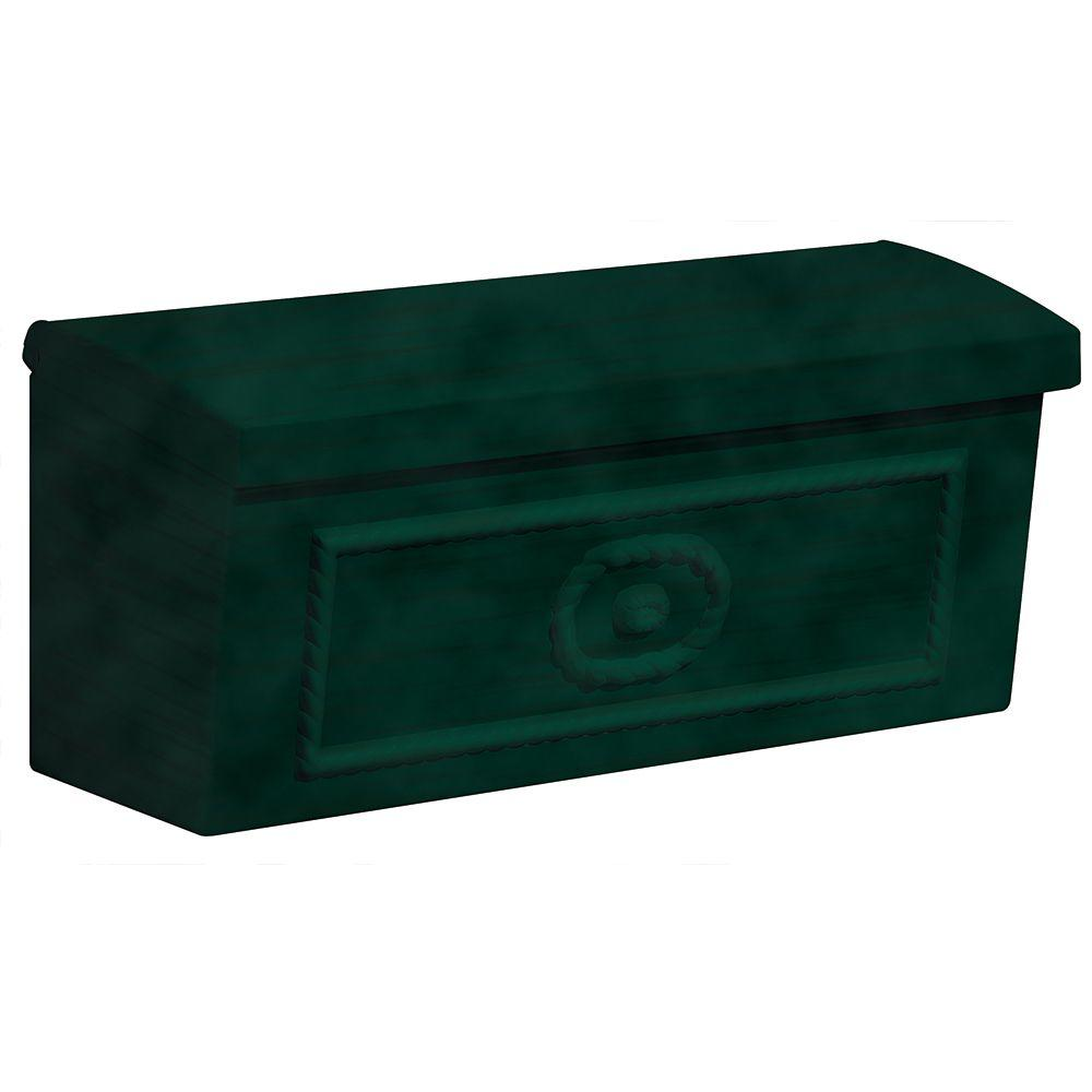 Salsbury Industries 4500 Series Green Surface-Mounted Townhouse Mailbox