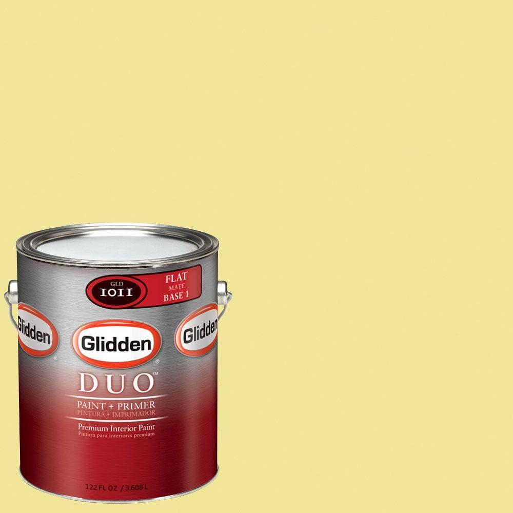 Glidden DUO Martha Stewart Living 1-gal. #MSL063-01F Mimosa Flat Interior Paint with Primer-DISCONTINUED