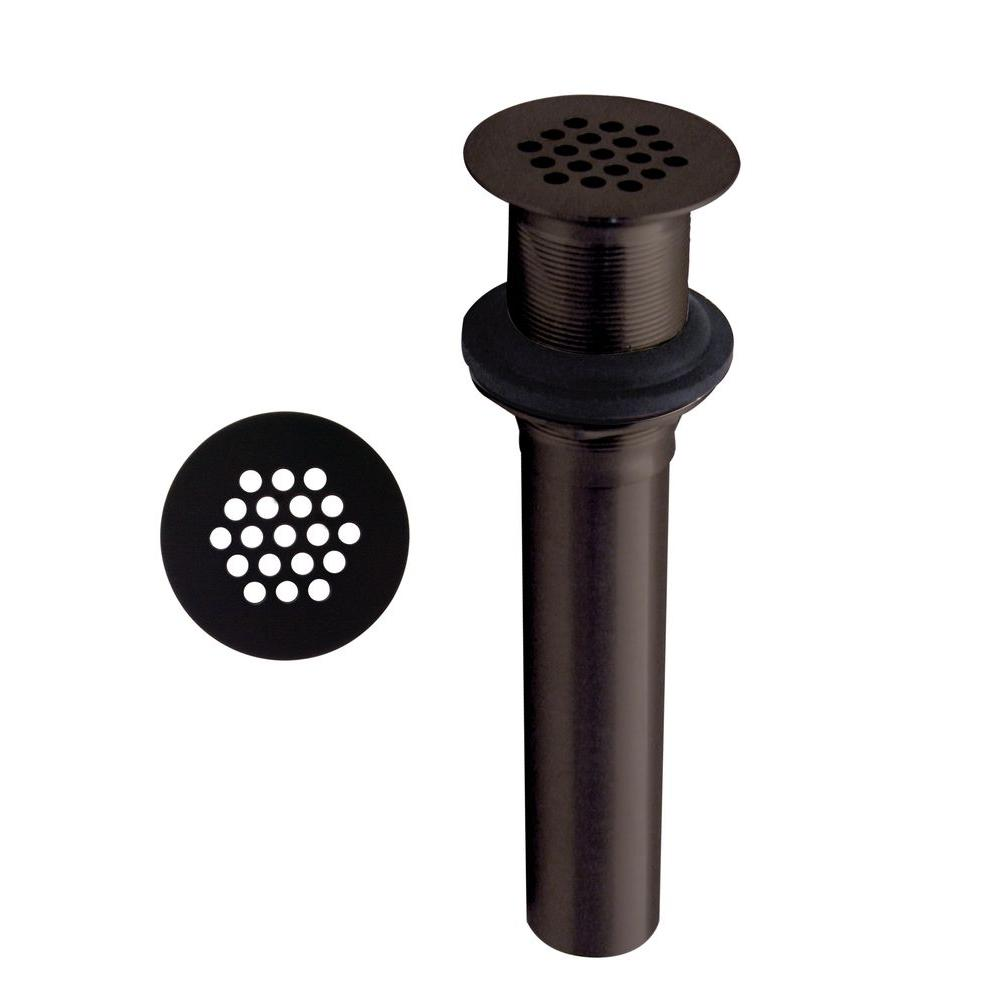 Grid Strainer Lavatory Drain without Overflow Holes in Oil Rubbed Bronze