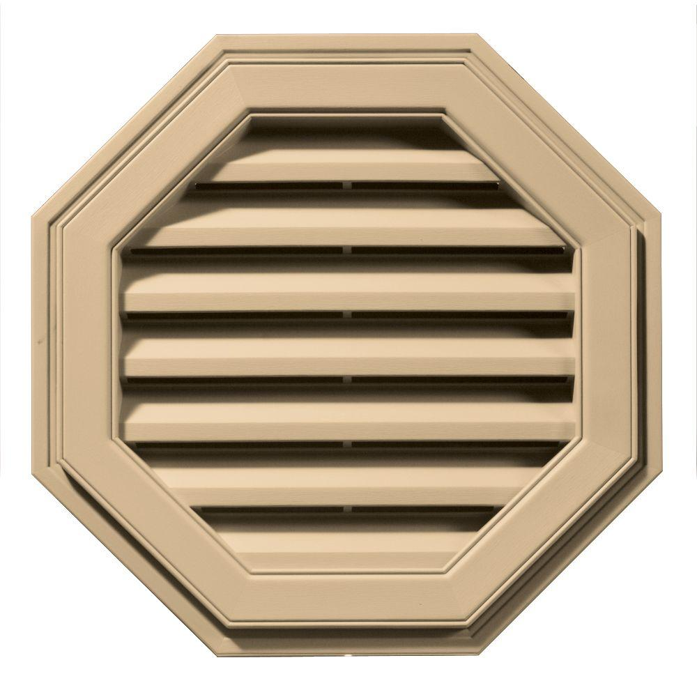 Builders Edge 22 in. Octagon Gable Vent in Sandstone Maple-120012222045 -
