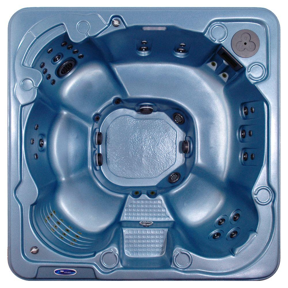 QCA Spas Valletta 8-Person 70-Jet Spa with Bromine System, WOW Sound, LED Light, Polar Insulation, Collar Jets and Hard Cover