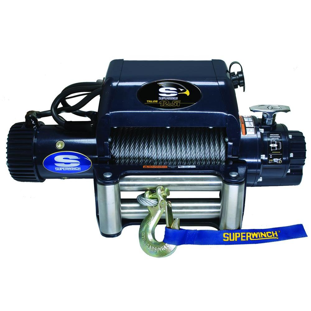 Superwinch Talon 12.5i 12-Volt DC Off-Road Winch with 4-Way Roller Fairlead and 15 ft. Remote