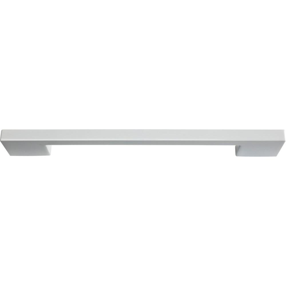 Atlas Homewares Successi Collection High White Gloss 8.68 in. Thin Square Rail Pull