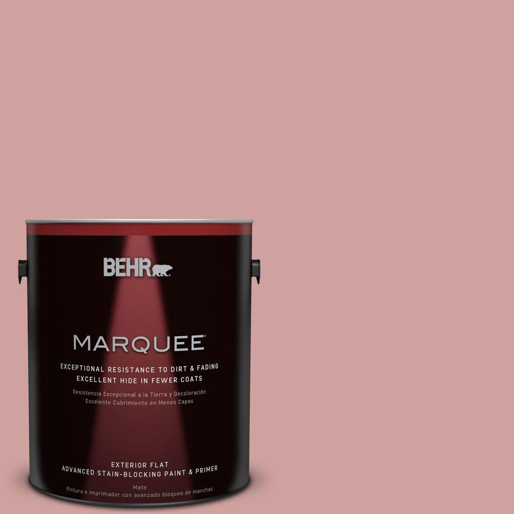 1-gal. #S150-3 Rose Pottery Flat Exterior Paint