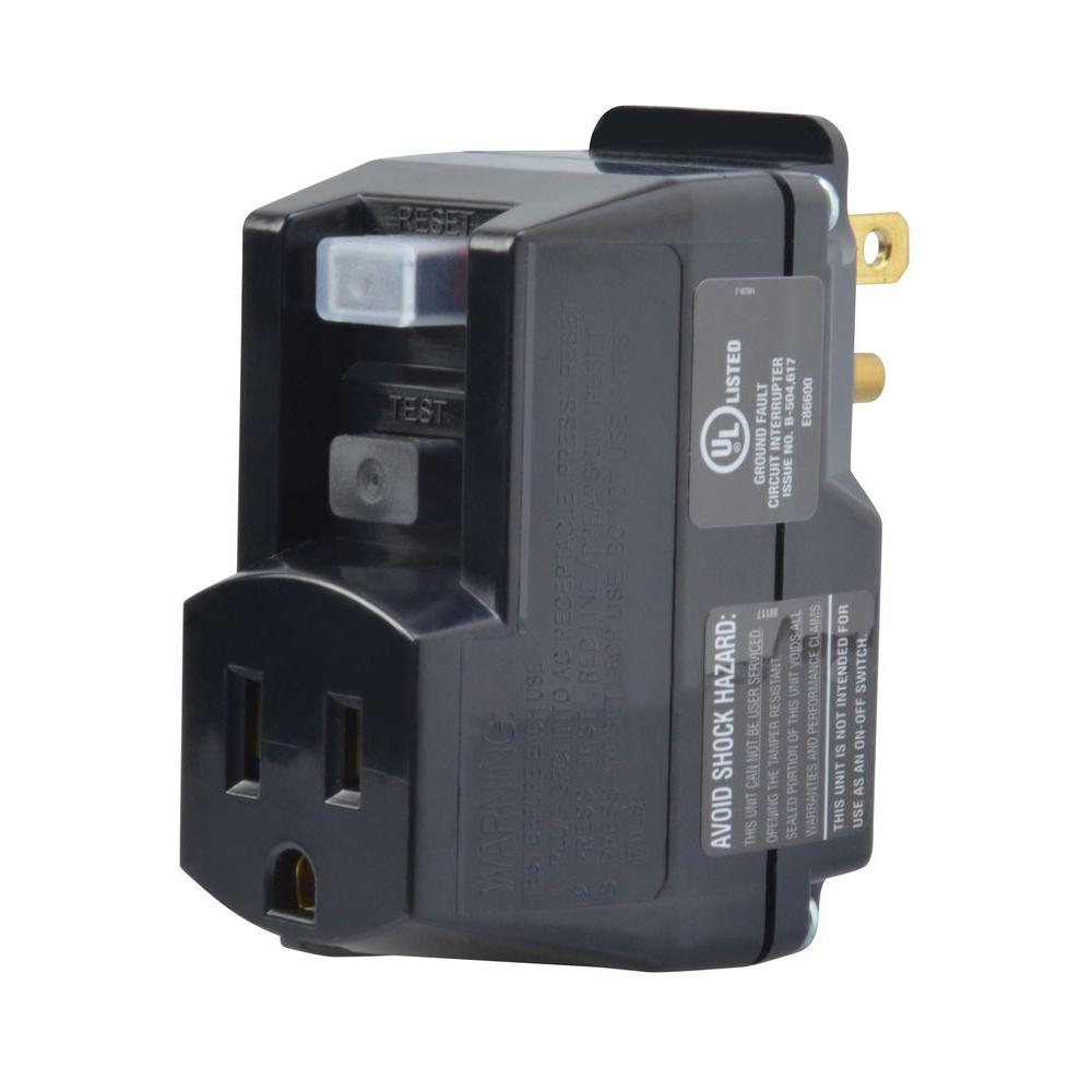 Yellow Jacket Gfci Portable Plug In Adapter Black 2762