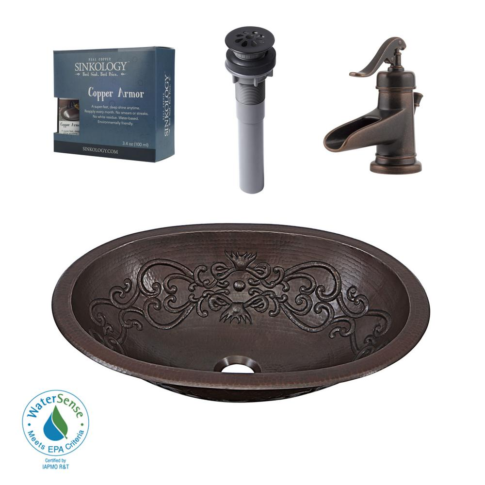 Pfister All-In-One Pauling Bathroom Sink Design Kit in Aged Copper with