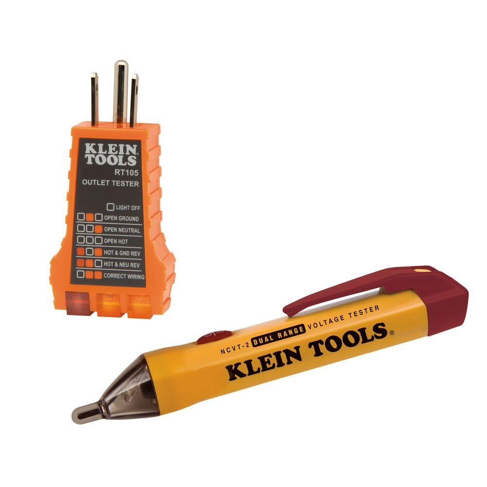 Klein Tools Dual Range NCVT with RT105-NCVT2KIT - The Home Depot