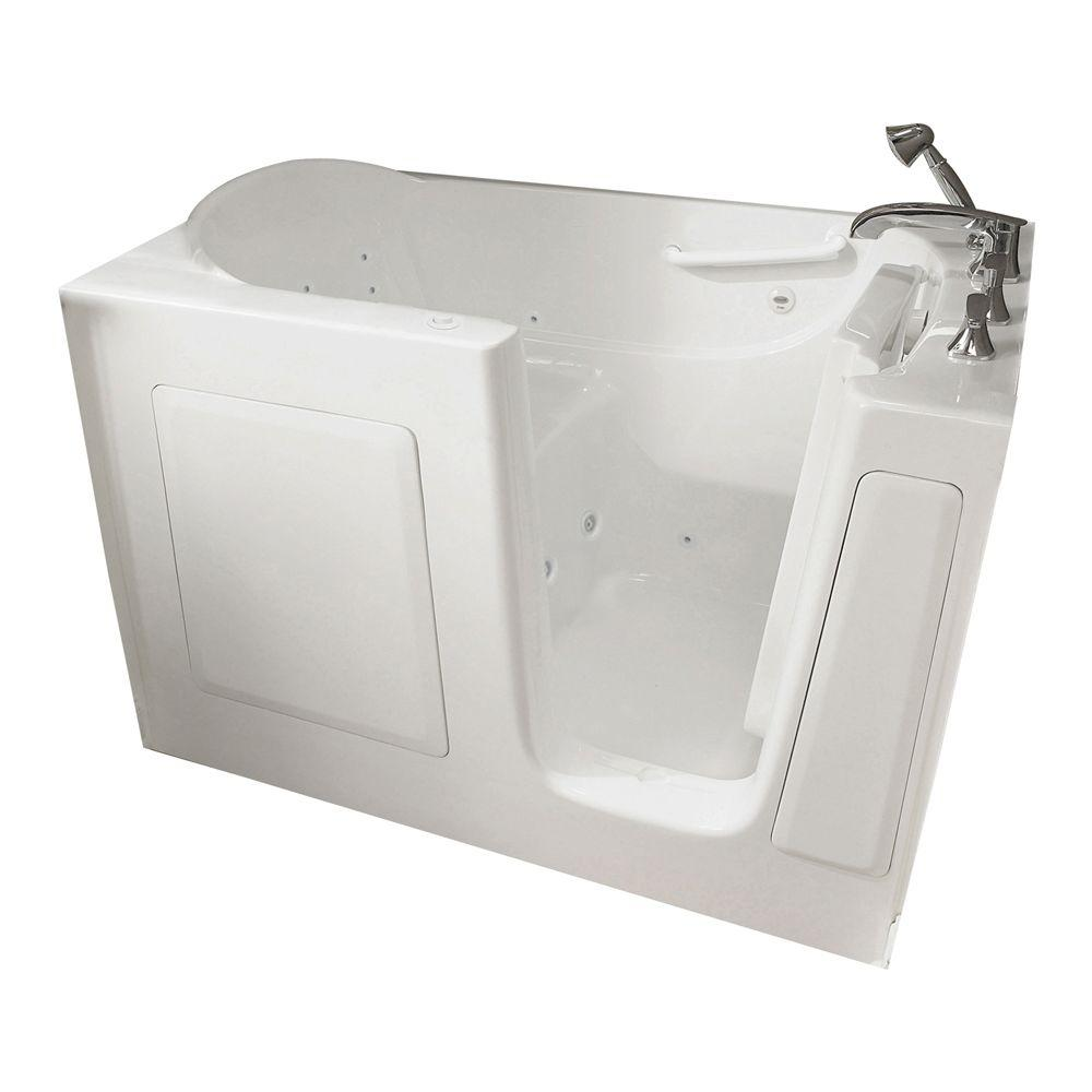 American Standard Gelcoat Standard Series 60 in. x 30 in. Walk-In Whirlpool Tub with Quick Drain in White