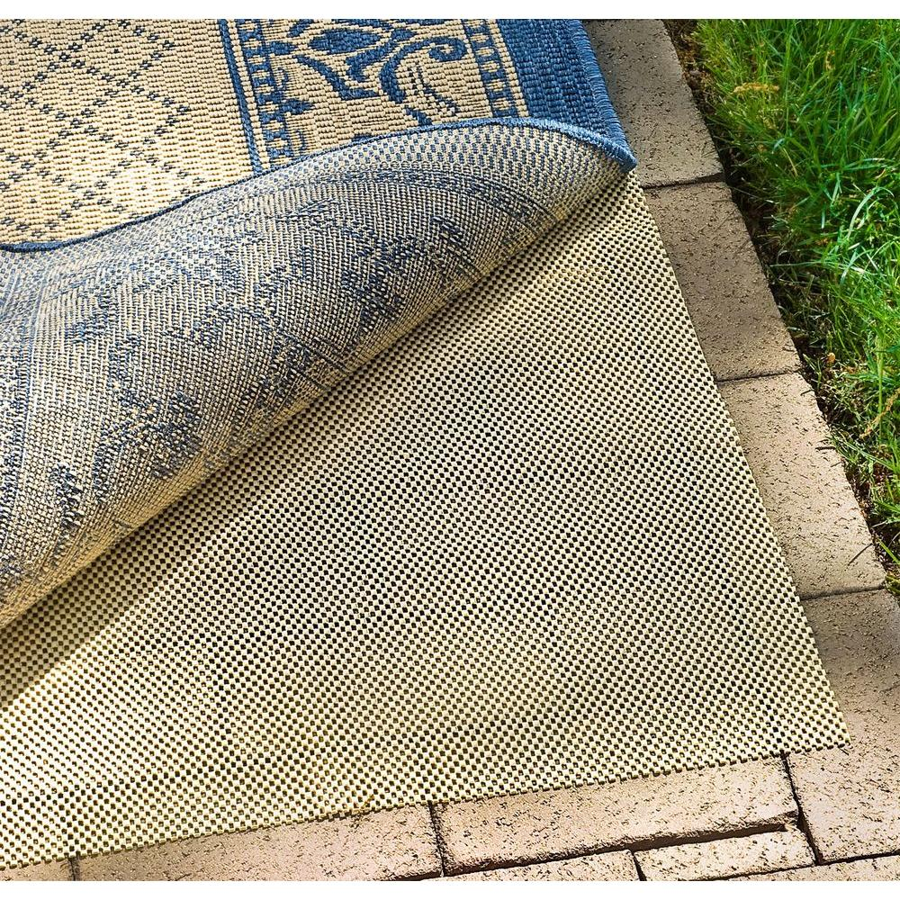 Outdoor Area Rug Pad: Safavieh Outdoor Creme 9 Ft. X 12 Ft. Non-Slip Rug Pad