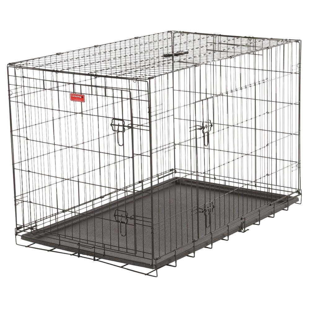 Lucky Dog 48 in. Long Training Crate with 2-Door-ZW 11548 -