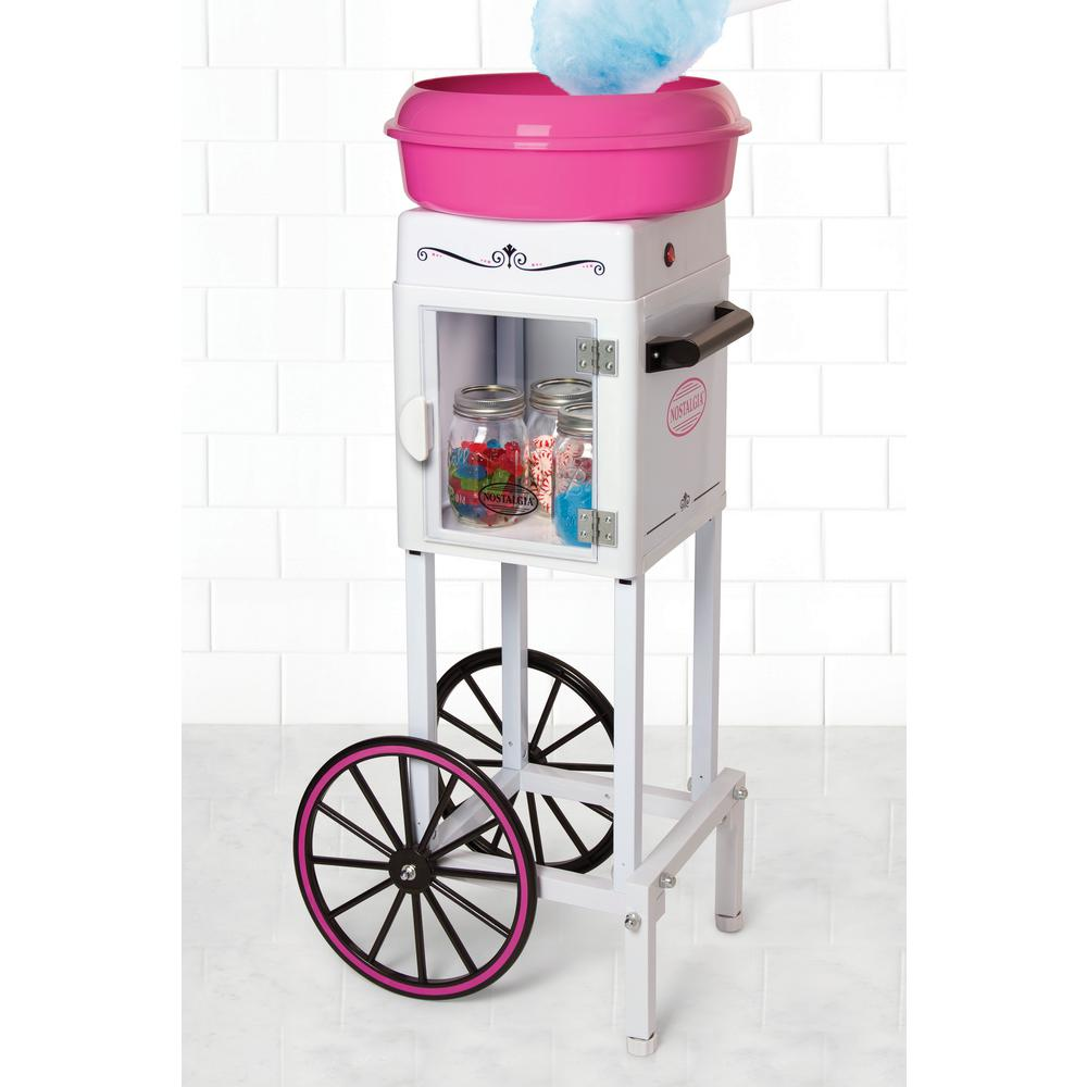Uncategorized Candy Kitchen Appliances cotton candy machines specialty dessert makers 3 foot tall hard and sugar free cart in pink