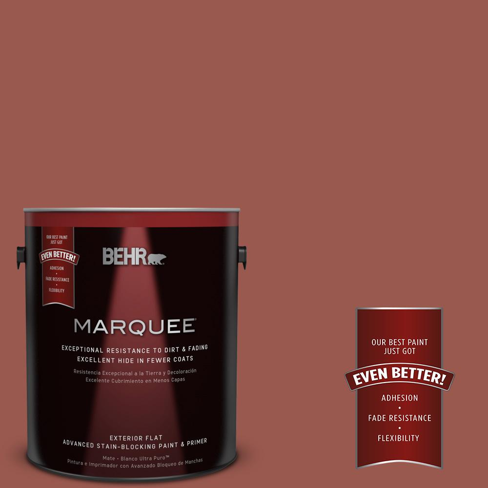 BEHR MARQUEE 1-gal. #ICC-106 Spicy Cayenne Flat Exterior Paint