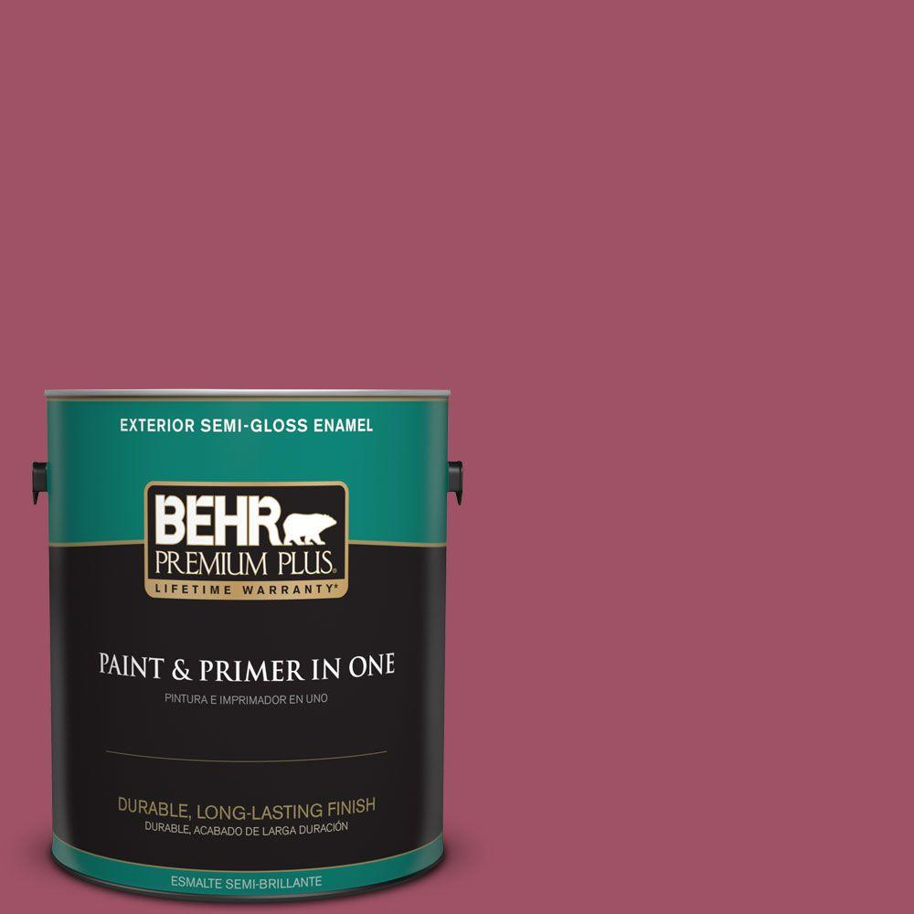 1-gal. #110D-5 Mission Wildflower Semi-Gloss Enamel Exterior Paint