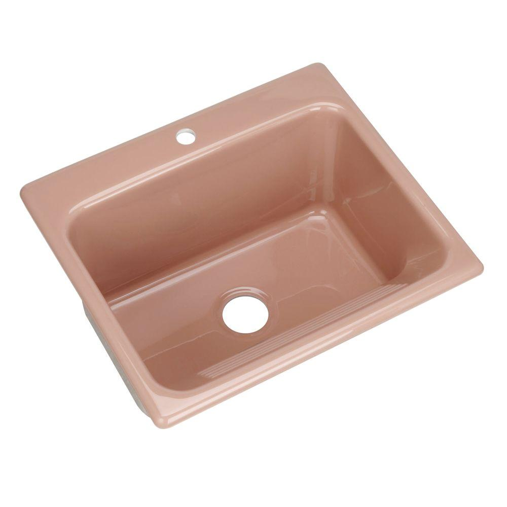 Thermocast Kensington Drop-In Acrylic 25x22x12 in. Single Bowl Utility Sink in