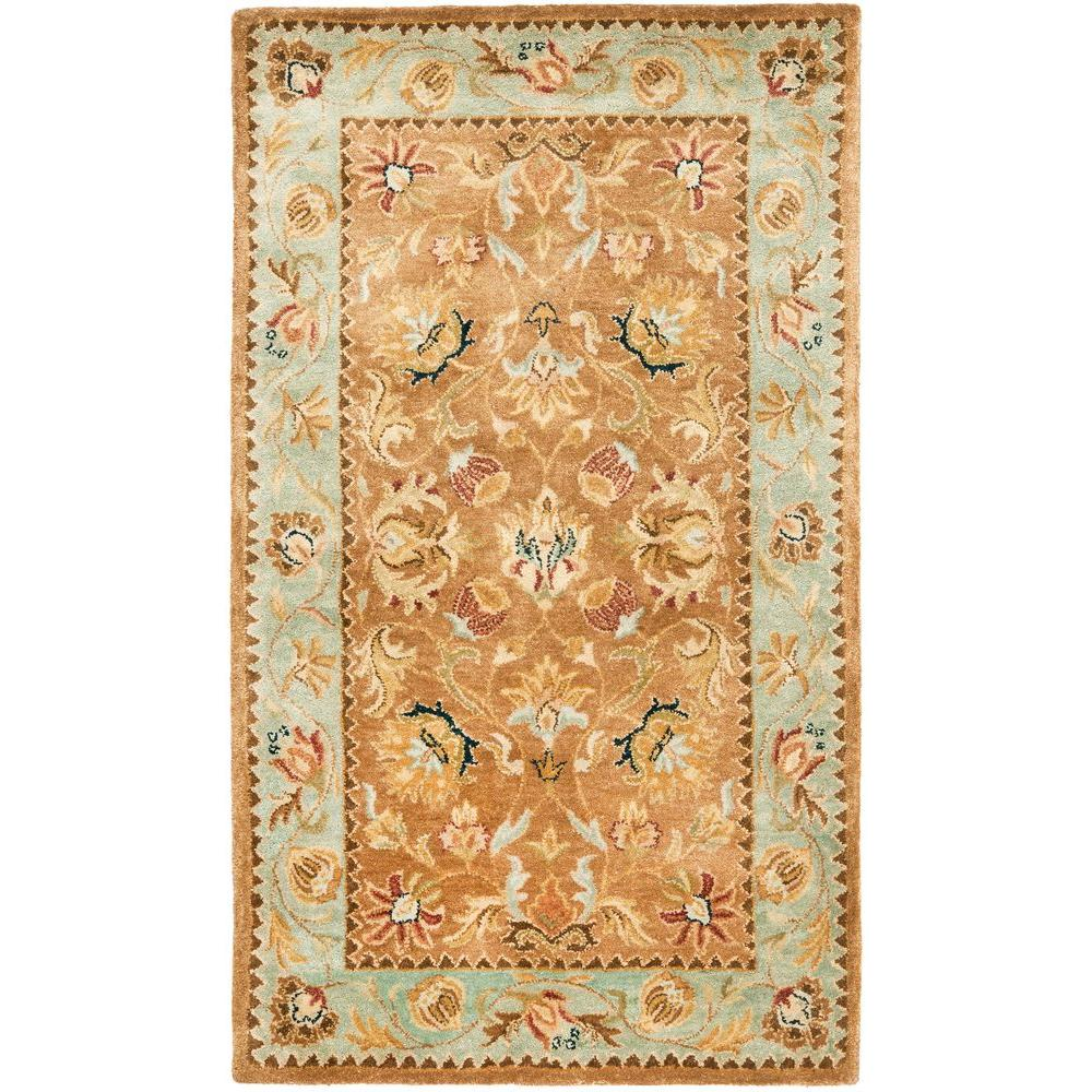 Bergama Brown/Blue 3 ft. x 5 ft. Area Rug